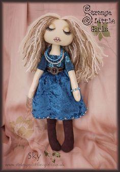 Bohemian cloth art doll - Sky by Strange Little Girls