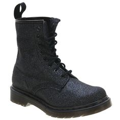 1460 8-Eye Melody Glitter. The perfect mix of tough girl attitude and feminine sparkle! seriously want some of these!