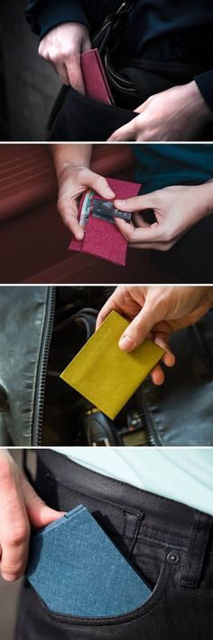 The indestructible, paper-thin, minimalist wallet by Cardamon.