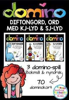 diftongord, ord med kj-lyd og sj-lyd (BM & NN) Teaching Tips, Me On A Map, Knowledge, Education, School, Books, Products, 2nd Grade Class, First Class