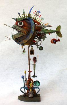 poisson, abysses,assemblages, gérard collas