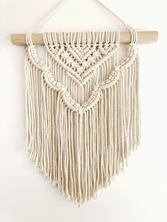 Most current Absolutely Free Macrame diy wall hanging Strategies Macrame Wall Hanging Esther Scalloped layered modern Makramee Macrame Plant, Macrame Wall Hanging Patterns, Large Macrame Wall Hanging, Tapestry Wall Hanging, Macrame Wall Hangings, Macrame Wall Hanger, Free Macrame Patterns, Macrame Mirror, Glamour Decor