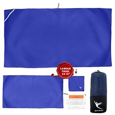 PREMIUM CAMPING - TRAVEL TOWEL, Set of 3 Microfiber Towels for Gym, Pool, Sports, Beach, FREE Mesh Bag, Quick Dry, Compact, Super Absorbent and Lightweight -- Check this awesome product by going to the link at the image.