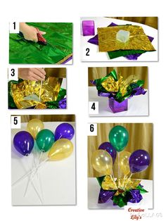 Centerpiece a: Use the can well for basic and balloon sticks for balloons - balloon decorations 🎈 Centerpiece a: Use the can as a base and the balloon sticks for balloons Balloon Table Centerpieces, Reunion Centerpieces, Class Reunion Decorations, Mardi Gras Centerpieces, Masquerade Centerpieces, Mardi Gras Decorations, Balloon Decorations Party, Birthday Party Decorations, Centerpiece Decorations