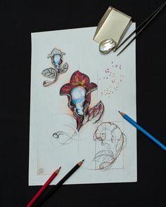 #Brooch #sketch #FromStartToEnd #Pearl #Diamonds #Rubies #Sapphire #DeLaur