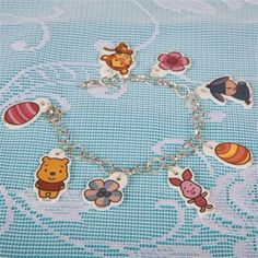 membuat sendiri gelang untuk anak, jual hiasan tangan bergambar pooh dan kawan-kawan
