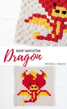 Corner to corner crochet dragon pattern--free crochet pattern!