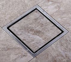 34.53$  Buy now - http://alirxz.shopchina.info/go.php?t=32330132947 - Tile Insert Square Floor Waste Grates Bathroom Shower Drain 150 x 150MM,304 Stainless steel  #buyonline