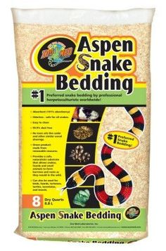 REPTILE - SUBSTRATE/BEDDING - ASPEN SNAKE BEDDING 8QT - - ZOO MED/AQUATROL, INC - UPC: 97612751086 - DEPT: REPTILE PRODUCTS