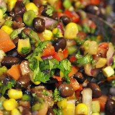 fresh black bean salad. I'm gonna try this minus the sugar and avocado.