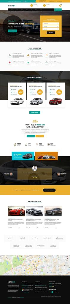 MotorNic is clean and modern design PSD template for vehicle marketplace and #car #rental services #website with 7 homepage layouts and 90+ layered PSD pages to live preview & download click on Visit