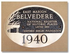 Erie Landmark Company | Gallery of Ideas for Custom Cast Bronze Plaques & Aluminum Plaques