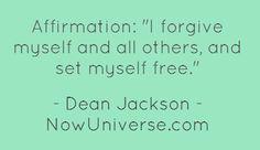 forgiving of ones self
