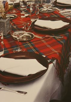 a Royal Stewart throw on the table looks great