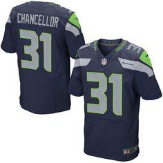 Kam Chancellor Seattle Seahawks Nike Elite Jersey - College Navy