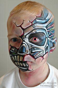 Cyborg. Face paint by Tanya Maslova.
