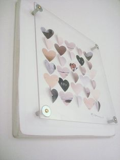 custom 3d heart engagement gift or wedding gift frame 12 x