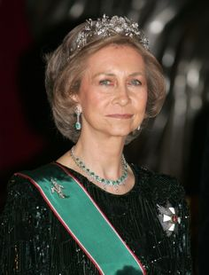The diamond floral tiara presented by General Franco of Spain to Princess Sofia when she wed Juan Carlos in 1962 has a longer history than first thought. It was made by the English jewellers JPCollins in 1879, at the behest of King Alfonso XII for his bride, Archduchess Maria Cristina of Austria.