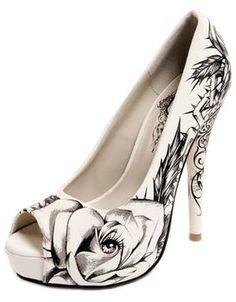 Iron Fist Key To My Sole Platform - Tattoo Flash #shoes #heels
