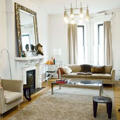 Still think we should try to do this with the gold/white mirror in the current living room.