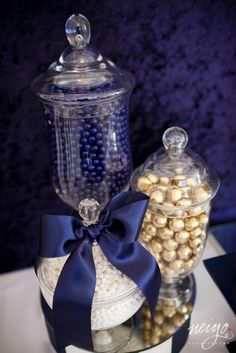 Party Inspirations: Navy Blue  Gold Baby Shower. use for bridal showers in brides colors