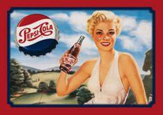 Pepsi Cola Lady Golfer Rec Game Room Retro Tin Sign #PC05