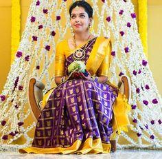 purple-yellow-bridal-saree.JPG (627×614)