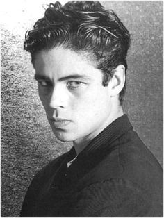 Young Benicio Del Toro The Usual Suspects Benicio del toro