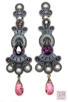 earrings : Rhapsody Pearl & Crystal Earrings www.doricsengeri.com