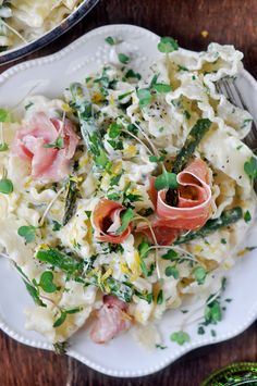 spring time pasta with asparagus, lemon and prosciutto