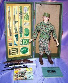 "Vintage GI Joe 1964 12"" Hasbro Accessories Lot and Action Figure"