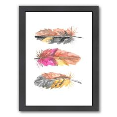 Boho Feather Trio watercolor painting print. Wall decor, Wall art, Wall art living room, Wall art bedroom, Feather wall art, Feather wall art living room, Feather wall art bedroom. #walldecor  #ad #feather #wallart #livingwall