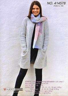 Jakke og tørklæde til damer  fra Hjertegarn 414578