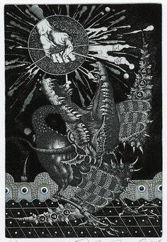 Y.Jakovenko Baphomet, Ex Libris, Dark Ages, Turin, Gravure, Surreal Art, Magick, Painting & Drawing, Illustrators