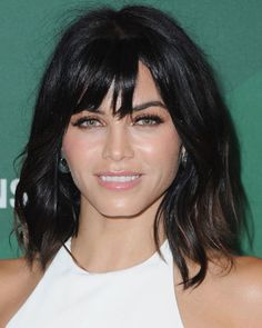 There's no better time to debut a new look than fall! Jenna Dewan Tatum freshened up her signature bob with some texture and choppy bangs. The result is major Helena Christiansen vibes.