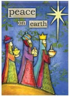 "Amazon.com: ""Peace on Earth"" Three Wise Men & Star of Bethlehem Christmas…"