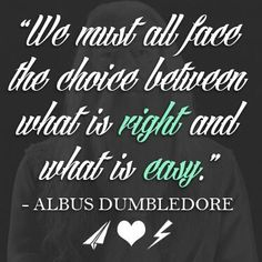 The wisdom of Harry Potter.