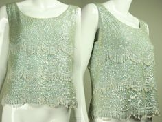 Vintage 50s/60's BEADED & SEQUINED BLOUSE by regenerationclothing, $125.00
