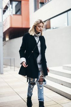vinter Strømpebukser for Dame - mote-antrekk. Winter Outfits Casual Cold, Winter Outfit For Teen Girls, Winter Outfits For School, Best Casual Outfits, Winter Outfits Women, Outfits For Teens, Chic Outfits, Fall Outfits, Cardigan Blazer