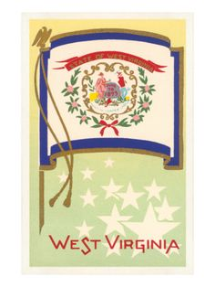 Flag of West Virginia Premium Poster at Art.com