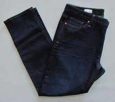 "Gap 1969 Jeans Real Straight 33 16 Dark Stretch Denim Slim Low Rise 31"" 2014 #GAP #StraightLeg"