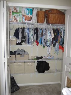 Project Nursery - Nursery Closet Organization