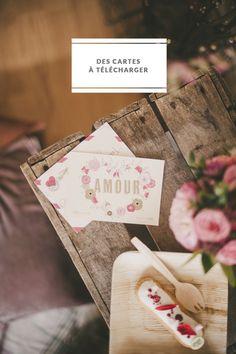Des cartes de saint valentin à télécharger :: La mariee aux pieds nus