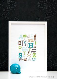 Sekaisin olevat aakkoset. Poster from  20,90 €
