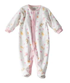 Available exclusively online from Hallmark Baby, beautiful Baby clothes including these Baby Girl Kittens and Bunnies Long Sleeve One Piece made of supremely soft 100% interlock cotton outer