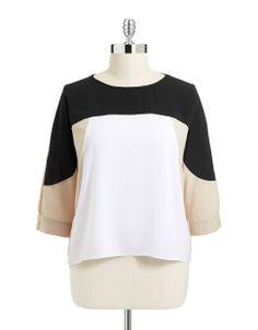 Women's | Plus Size | Plus Plus Size Colourblock Blouse | Hudson's Bay $79.00 SALE $59.25