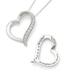 Amazon.com: Sterling Silver Antiqued Cz Daughter-In-Law 18in Necklace: Sentimental Expression: Jewelry
