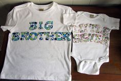 Sibling Shirts Big Brother Little Sister