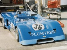 The Plumtree Racing Chevron B19 in the paddock at Silverstone in May 1987. Copyright Jeremy Jackson 2009 . Used with permission.
