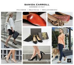 Sanida Carroll - a new luxury handmade in Italy shoe brand with a 3-P philosophy: Polished | Practical | Philanthropic.